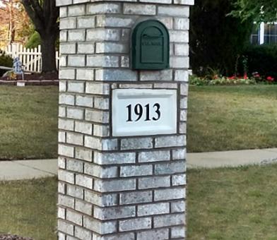 Brick Mailbox Joliet Illinois