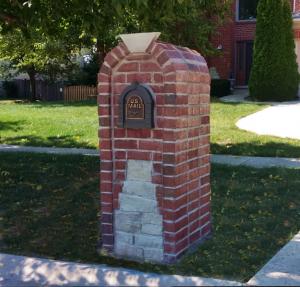 Brick Mailbox Plainfield, Illinois