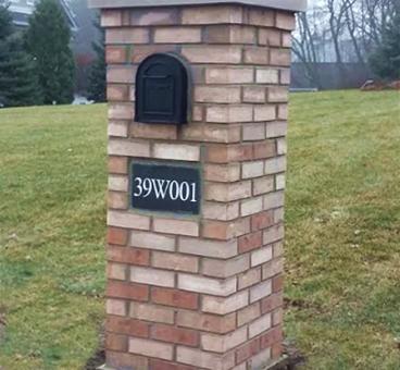 Brick Mailbox Wheaton